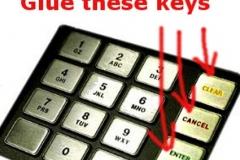 ATM keypad