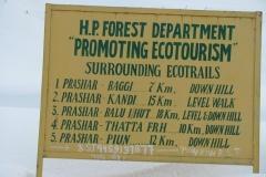 Trekking Distances Prashar Lake Mandi Himachal Pradesh