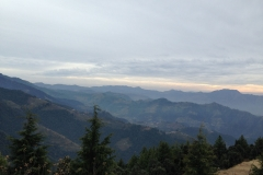 Valley view from Saroa Chailchowk Mandi Himachal Pradesh