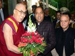 Dalai Lama with Jai Ram