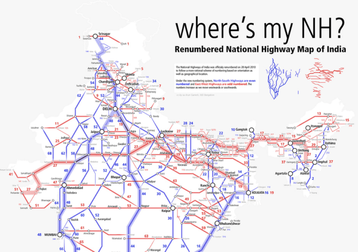 National Highways Map of India