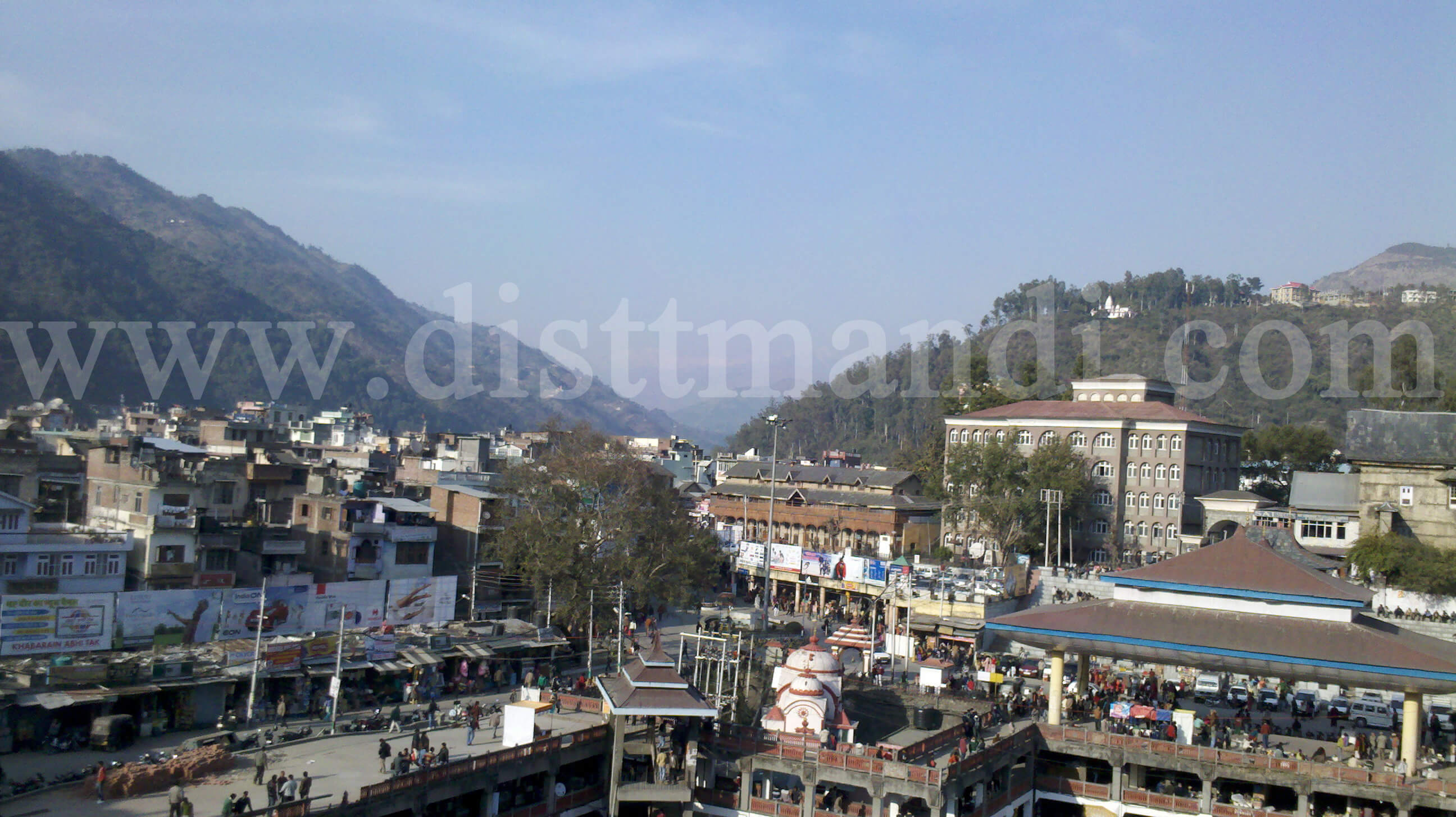 View of Mandi Town Himachal Pradesh